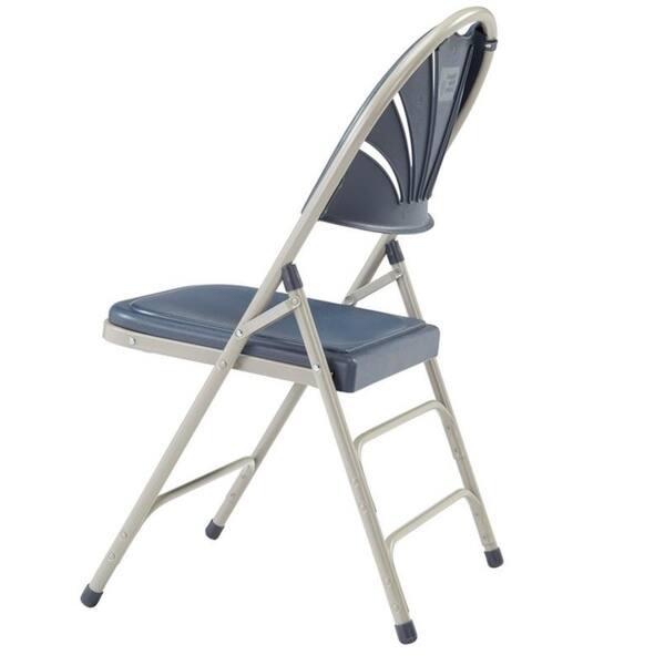 Remarkable Shop National Public Seat Dark Blue Polyfold Fan Back Triple Ibusinesslaw Wood Chair Design Ideas Ibusinesslaworg