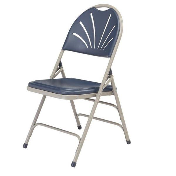 Groovy Shop National Public Seat Dark Blue Polyfold Fan Back Triple Ibusinesslaw Wood Chair Design Ideas Ibusinesslaworg
