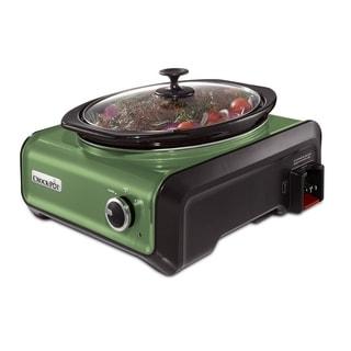 Crock-Pot SCCPMD3-GR Hook Up Connectable Slow Cooker 3.5-Quart Metallic Sage
