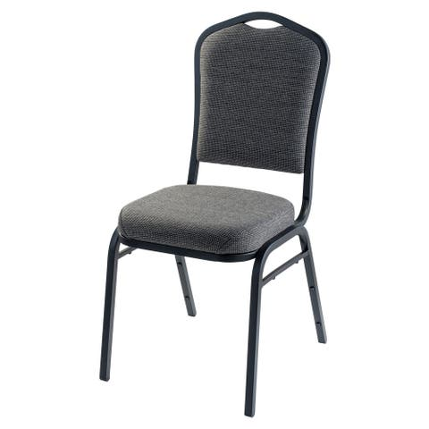 Silhouette Fabric Padded Stack Chair Natural Greystone