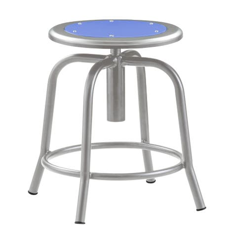 Adjustable Height Stool With Metal Seat Persian Blue