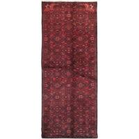 "Pasargad Red Vintage Hamadan Collection Hand-Knotted Wool Rug (3' 0"" X 7' 1"")"
