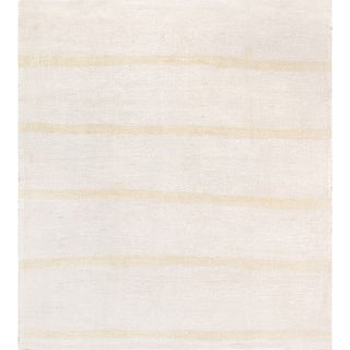 "Pasargad Vintage Kilim Collection Ivory Hand-Woven Hemp Rug (5' 1"" X 5'11"")"