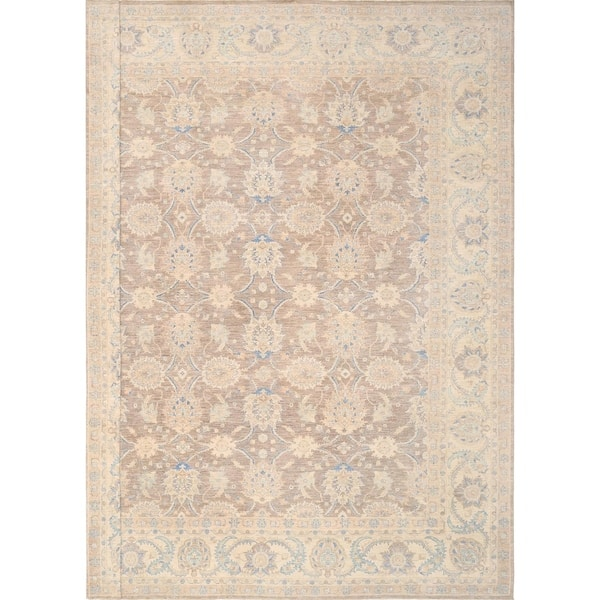 Ferehan L Brown Beige Collection Hand Knotted Wool Area Rug 15 1 X 18 10 15 X 19 On Sale Overstock 18218549