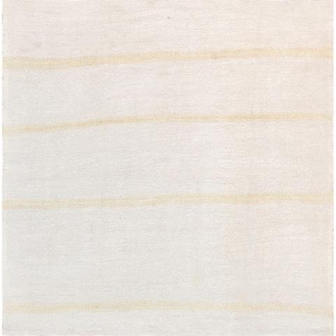 "Pasargad Vintage Kilim Collection Hand-Woven Ivory/Tan Hemp Rug (5' 2"" X 5' 7"") - 5' x 6'"