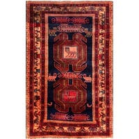 """Pasargad Vintage Ardabill Collection Hand-Knotted Wool Area Rug (4' 1"""" X 6' 7"""")"""