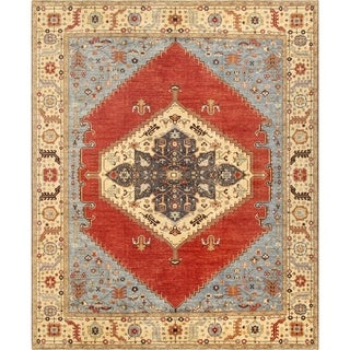 """Pasargad Serapi Collection Rust/Ivory Hand-Knotted Wool Rug (12' 2"""" X 15' 2"""") - 12' x 15'"""