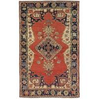 "Pasargad Vintage Sivas Collection Hand-Knotted Wool Area Rug (4' 5"" X 7' 3"")"
