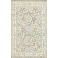 "Pasargad Ferehan Collection Hand-Knotted Wool Area Rug (4' 1"" X 6' 5"")"