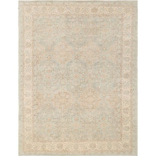 """Pasargad Ferehan Grey/Biege Collection Hand-Knotted Wool Rug (9' 0"""" X 12' 0"""") - 9' x 12'"""