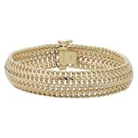 Fremada 14k Yellow Gold 14 millimeters Bold Saduza Bracelet 7.5 inches)