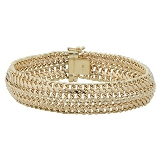 Fremada 14k Yellow Gold 14 millimeters Bold Saduza Bracelet 7.5 inches)