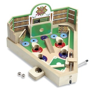 Classic Wooden Tabletop Baseball Game - Pinball Machine