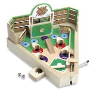 Classic Wooden Tabletop Baseball Game - Pinball Machine