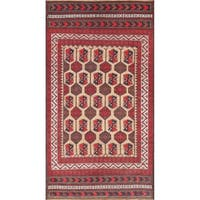 "Pasargad Vintage Balouch Camel/Ivory Hand-Knotted Wool Rug (3'11"" X 7' 3"")"