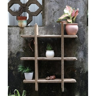 Rustic Wooden Floating Shelf