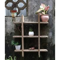 Rustic Wooden Floating Shelf