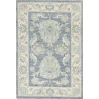 "Pasargad Ferehan Collection Grey/Beige Wool Area Rug (2' 2"" X 3' 1"")"