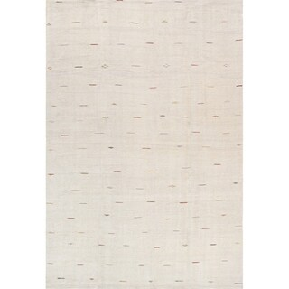 "Pasargad Vintage Ivory Kilim Collection Hand-Woven Hemp Rug (6' 6"" X 8' 1"")"