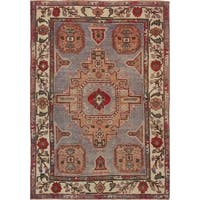 "Pasargad Vintage Sivas Collection Hand-Knotted Wool Rug (4' 8"" X 6' 8"")"