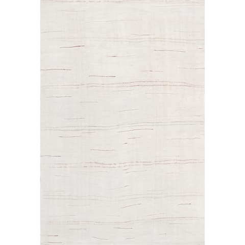 "Pasargad Vintage Kilim Collection Ivory/Multi Hand-Woven Hemp Rug (5' 1"" X 8' 0"") - 5' x 8'"