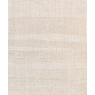 "Pasargad Vintage Kilim Collection Hand-Woven Ivory Hemp Rug (4' 2"" X 5'11"")"