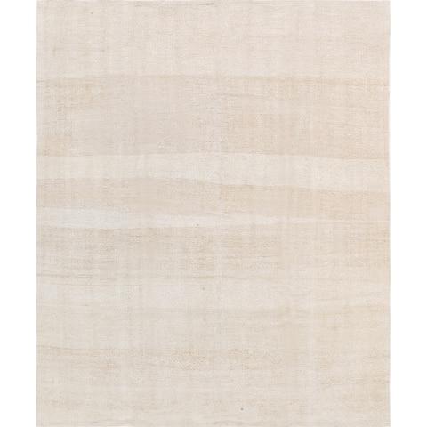 "Pasargad Vintage Kilim Collection Hand-Woven Ivory Hemp Rug (4' 2"" X 5'11"") - 4' x 6'"