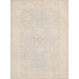 """Pasargad Ferehan L.Blue/Biege Collection Hand-Knotted Wool Rug (9' 1"""" X 12' 1"""") - 9' x 12'"""