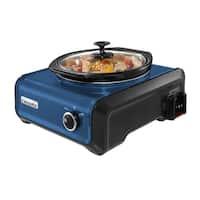 Crock-Pot SCCPMD2-BL Hook Up Connectable Entertaining System 2-Qt Metallic Blue