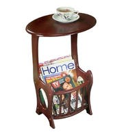Wooden Magazine Table - Wood End Table Magazine Rack Table