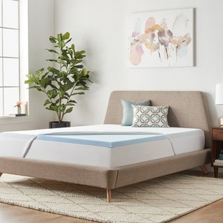 LINENSPA 2-inch Gel Memory Foam Mattress Topper with Waterproof Mattress Protector (5 options available)