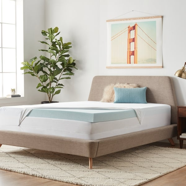 Shop Lucid 4 Inch Gel Memory Foam Mattress Topper With