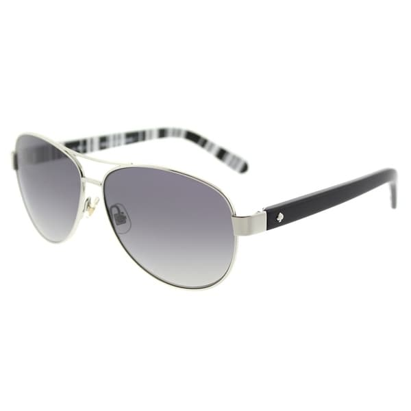 Shop Kate Spade Aviator Ks Dalia2p 79d Womens Silver Black Frame