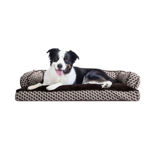 Groovy Shop Furhaven Pet Bed Plush Decor Comfy Couch Pillow Bralicious Painted Fabric Chair Ideas Braliciousco