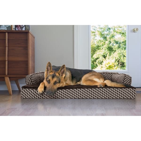 Cool Shop Furhaven Pet Bed Plush Decor Comfy Couch Pillow Bralicious Painted Fabric Chair Ideas Braliciousco