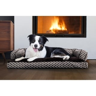 FurHaven Plush & Décor Comfy Couch Pillow Sofa-Style Dog Bed Pet Bed