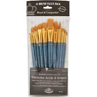 Gold Taklon Flat Value Pack Brush Set