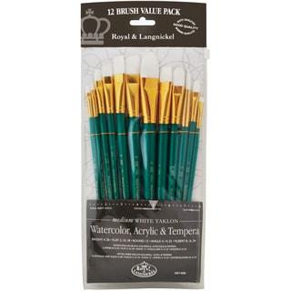 White Taklon Value Pack Brush Set