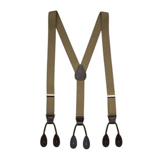 Men's Elastic Y-Back Adjustable Button End Suspenders (16 Colors) (2 options available)