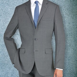 Carlo Studio Grayish Brown Herringbone Suit|https://ak1.ostkcdn.com/images/products/18219132/P24360857.jpg?_ostk_perf_=percv&impolicy=medium
