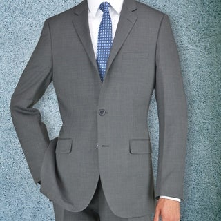 Carlo Studio Grayish Brown Herringbone Suit
