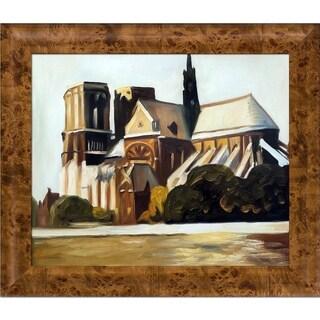 Edward Hopper 'Notre Dame de Paris, 1907' Hand Painted Oil Reproduction