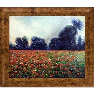 Claude Monet 'Poppies at Giverny' Hand Painted Oil Reproduction