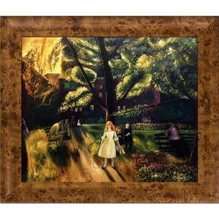 George Wesley Bellows 'Gramercy Park, 1920' Hand Painted Oil Reproduction
