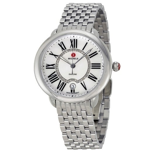 658ad707e Shop Michele Serein 16 Women's Stainless Steel Watch - Free Shipping Today  - Overstock - 18219198