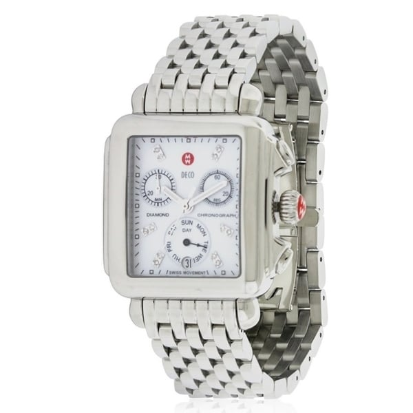 53484999bd2c Shop Michele Deco Day Diamond Ladies Watch MWW06P000014 - Free Shipping  Today - Overstock - 18219235