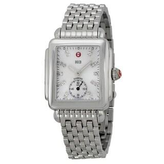 Michele Deco 16 Stainless Steel Diamond Ladies Watch MWW06V000002