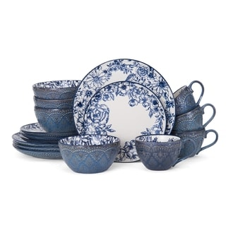 Pfaltzgraff Gabriela Blue 16 Piece Dinnerware Set