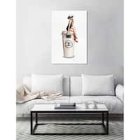 Oliver Gal 'Cafe Au Lait Cambon' Fashion and Glam Wall Art Canvas Print - White