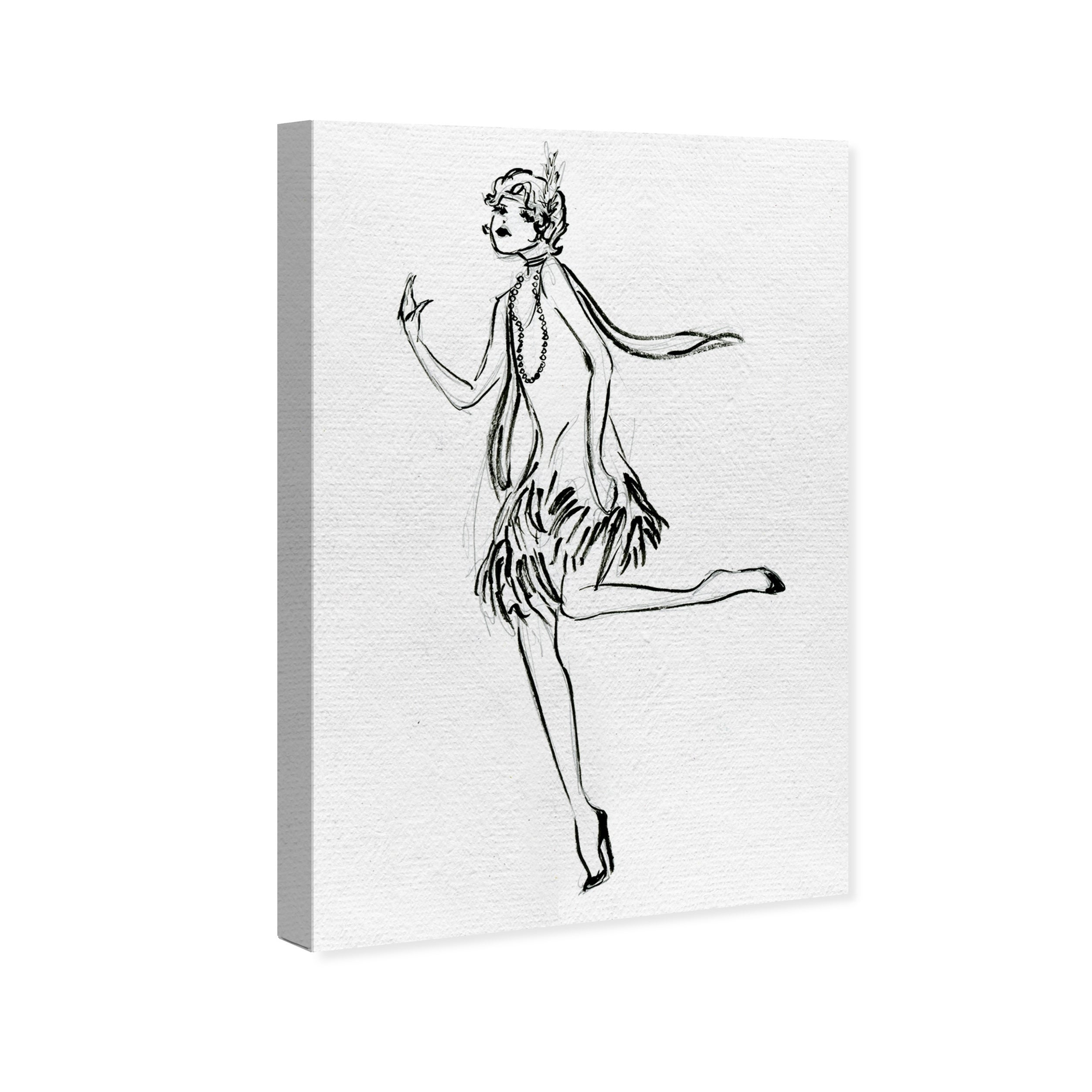 Shop Oliver Gal Fashion Flapper Sketch Fashion And Glam Wall Art Canvas Print Black White Overstock 18219356